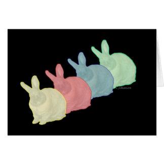 Tarjeta Los conejos de conejito 4 colorean a 4 amantes del