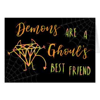 Tarjeta Los demonios divertidos de Halloween son un mejor