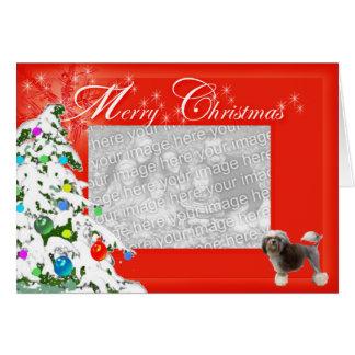 Tarjeta Los deseos de Lowchen Chrismas añaden su foto