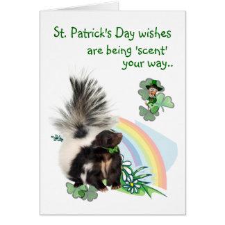 Tarjeta ¡Los deseos del día del St Patricks están siendo