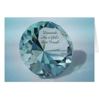 Tarjeta los diamantes son un mejor amigo de los chicas
