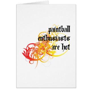Tarjeta Los entusiastas de Paintball son calientes