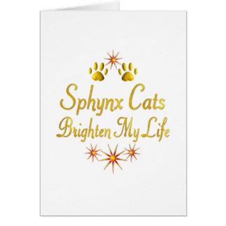 Tarjeta Los gatos de Sphynx aclaran mi vida