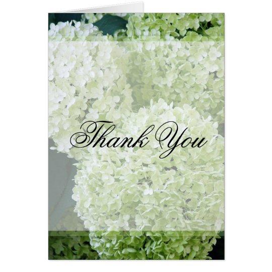 Tarjeta Los Hydrangeas de Annabelle le agradecen