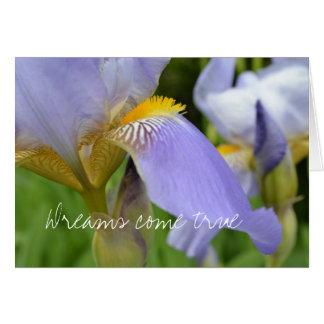 Tarjeta Los Iris-Sueños púrpuras vienen verdad