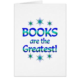 Tarjeta Los libros son los más grandes