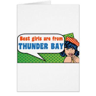 Tarjeta Los mejores chicas son de Thunder Bay