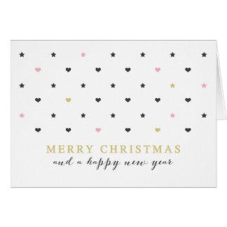 Tarjeta Los mini corazones y protagonizan Felices Navidad
