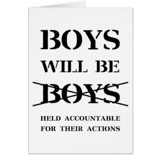 Tarjeta Los muchachos serán muchachos (la maldición