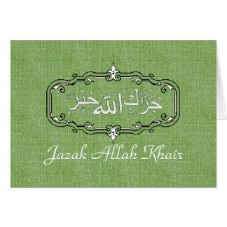 Tarjeta Los musulmanes le agradecen