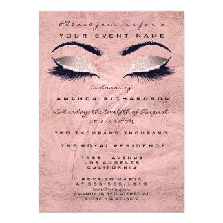 Tarjeta Los ojos color de rosa rosados del maquillaje del