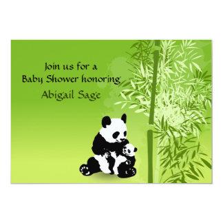 Tarjeta Los osos de panda y la fiesta de bienvenida al