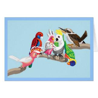 Tarjeta Los pájaros australianos son tan bonitos