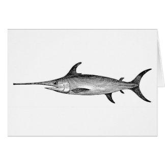 Tarjeta Los peces espadas cardan, ejemplo científico