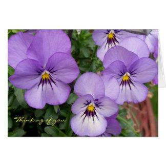 Tarjeta Los pensamientos/las violetas azules que piensan