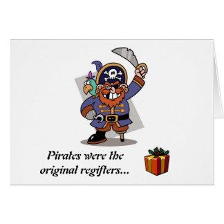 Tarjeta Los piratas son Regifters