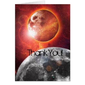 Tarjeta Los planetas cósmicos exploran le agradecen