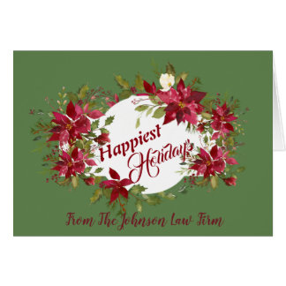 Tarjeta Los Poinsettias más felices de los días de fiesta