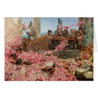 Tarjeta Los rosas de Heliogabalus
