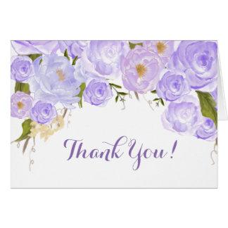 Tarjeta Los rosas de la lavanda florales le agradecen
