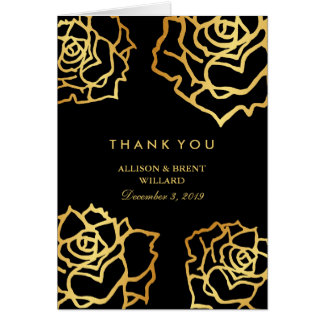 Tarjeta Los rosas de oro le agradecen cardar