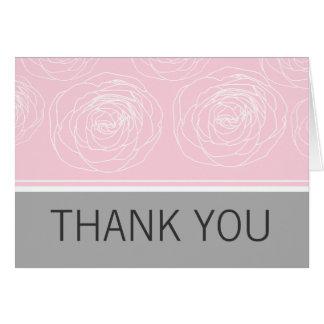 Tarjeta Los rosas encantadores elegantes le agradecen