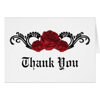 Tarjeta Los rosas góticos del remolino le agradecen