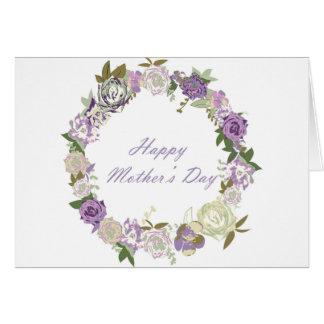 Tarjeta los rosas oscuros enrruellan día de madres feliz
