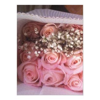 Tarjeta Los rosas rosados invitan