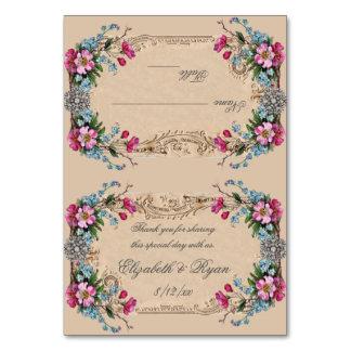 Tarjeta Los rosas rosados, vintage, elegante, colocan