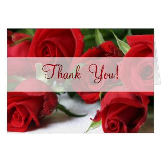 Tarjeta Los rosas toda la ocasión le agradecen cardar
