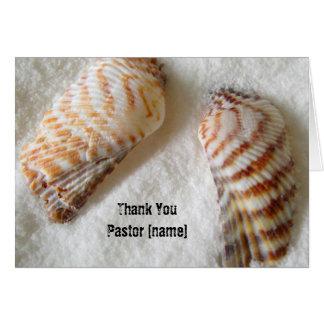 Tarjeta Los Seashells en clero del pastor de la arena le