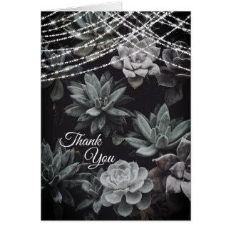 Tarjeta Los Succulents hermosos que encantan luces le