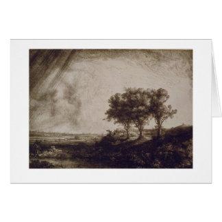 Tarjeta Los tres árboles