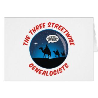 Tarjeta Los tres Genealogists pícaros