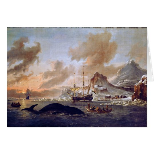 Tarjeta Los Whalers holandeses acercan a Spitsbergen de