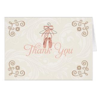 Tarjeta Los zapatos de la bailarina le agradecen Notecards