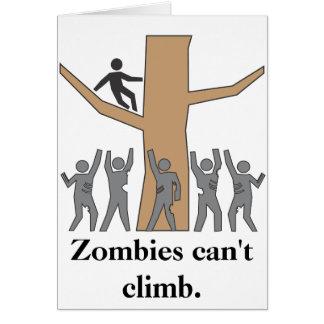 Tarjeta ¡Los zombis son escaladores putrefactos!