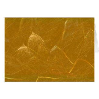 Tarjeta Lotus de oro grabó al agua fuerte el modelo barato