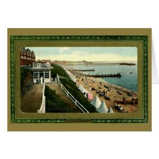Tarjeta Lowestoft Edwardian de la escena de la playa del