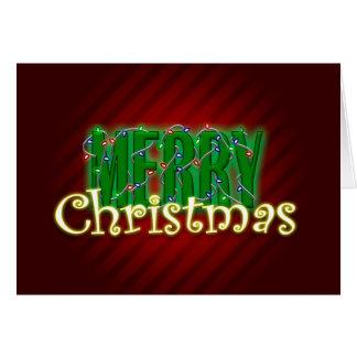 Tarjeta Luces de las Felices Navidad