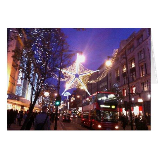 Tarjeta Luces de navidad en Londres