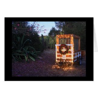 Tarjeta Luces del remolque del navidad