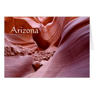Tarjeta Luces y rocas en el barranco, Arizona