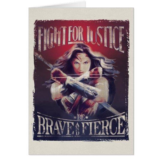 Tarjeta Lucha de la Mujer Maravilla para la justicia