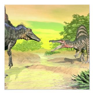 Tarjeta Lucha de los dinosaurios de Spinosaurus - 3D