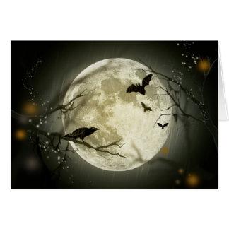 Tarjeta Luna de Halloween - ilustracion de la Luna Llena
