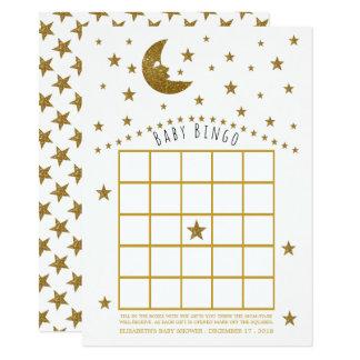 Tarjeta Luna del oro y bingo de la fiesta de bienvenida al