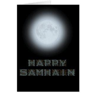 Tarjeta Luna Llena feliz de Samhain