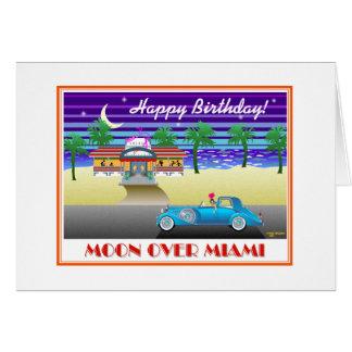 Tarjeta Luna sobre el cumpleaños de Miami